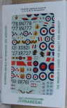 X72155 1/72 English Electric Lightning decals (7)